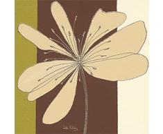 Eurographics H-K-DEH1028 D. Halliday, Taupe Flower Burst, 20 x 20 cm, Keilrahmenbild, keine Einrahmung nötig