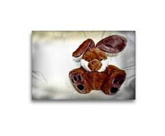 Calvendo Premium Textil-Leinwand 45 cm x 30 cm quer Hase | Wandbild, Bild auf Keilrahmen, Fertigbild auf echter Leinwand, Leinwanddruck: Kuscheltier Hobbys Hobbys