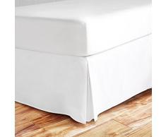 Zen Bambus Ultra Weiche Bett Rock – PREMIUM, umweltfreundlich, hypoallergen, und knitterfrei Bambus Staub Rüsche mit 35,6 cm Drop, Bambus, weiß, California King