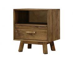 BigBuy Home Nachttisch, 55 x 45 x 62 cm, recyceltes Holz, mehrfarbig, Einheitsgröße