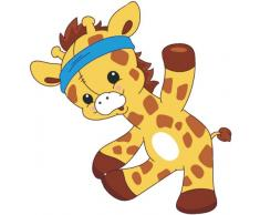 Welt der Kissen 10 Wandtattoo Giraffe, Motiv 10, Wandstickers Kinderzimmer