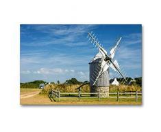 Premium Textil-Leinwand 90 x 60 cm Quer-Format Windmühle   Wandbild, HD-Bild auf Keilrahmen, Fertigbild auf hochwertigem Vlies, Leinwanddruck von Bernd Leicht