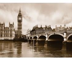 AG Design FTS 0480 London, Papier Fototapete - 360x254 cm - 4 teile, Papier, multicolor, 0,1 x 360 x 254 cm