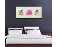 Walplus Wand Sticker Echt Bilderrahmen Abnehmbare Selbstklebend Wandkunst Aufkleber Vinyl Heim Dekoration DIY Wohnzimmer Schlafzimmer Büro Dekor Tapete Kinderzimmer Geschenk, Klassisch Weiß