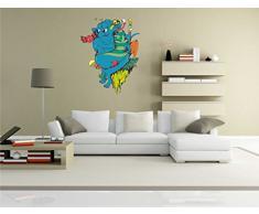 Indigos KAR-Wall-clm004-58 Wandtattoo fürs Kinderzimmer clm004 - Lustige kleine Monster - Lustige Kuh - Wandaufkleber 58 x 76 cm