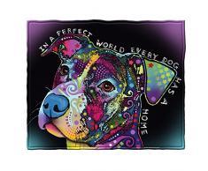 Dean Russo Perfect World jeder Hund Hat Eine Home Fleece Überwurf Decke
