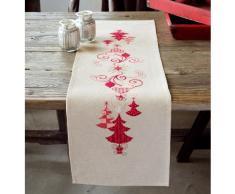 Vervaco PN-0144712 Läufer Weihnachtlich, rot