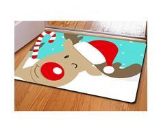 Buybai Cool 3D Weihnachts-Bedruckte Fußmatten Fußmatten für drinnen und draußen, Schlafzimmer, Küche, Teppich One_Size Merry Christmas -9