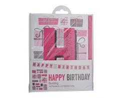 Neviti Happy Birthday Wimpelkette, Pink