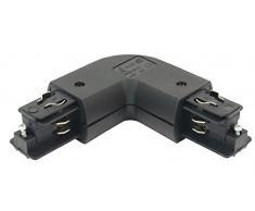 Deko-Light Schienensystem 3-Phasen 230 V, Eck Verbinder 90 Grad rund mit Einspeisemöglichkeit außen, 220-240 V AC/50-6 444670