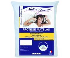 Nuit de France 329407Schutzbezug für Matratze Baumwolle/Polyurethan Weiß, weiß, 140 x 200 cm