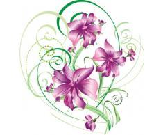 INDIGOS 4051719735697 Wandtattoo MF199 atemberaubendes Tribal Ranke Pflanze Blume Hibiskus 80 x 74 cm