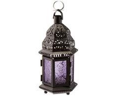 Gallery of Light 10016122 Laterne, marokkanischer Stil, Mehrfarbig