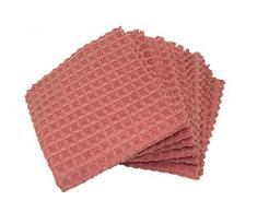 FQWTNANA Mikrofaser-Geschirrtücher, Geschirrtücher, Waffelgewebe, 30,5 x 30,5 cm, 6 Stück 30cmx30cm hell Korallenfarben