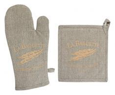 Soleil docre Handschuh und Topflappen Bedruckt Baumwolle Baguette