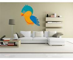 INDIGOS KAR-Wall-clm038-58 Wandtattoo fürs Kinderzimmer clm038 - Lustige kleine Monster - Lustiges Huhn - Wandaufkleber 58 x 63 cm