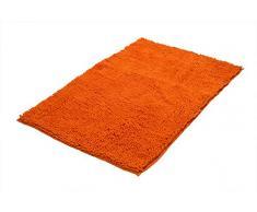 RIDDER 7052314-00 Soft Badteppich, Teppich, Vorleger, Polyester, orange, ca. 55x85 cm