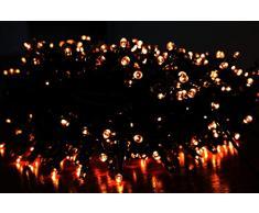 Euronatale Weihnachtsbeleuchtung für Weihnachtsbaum, warmes Licht, 1000 Lichter, Kabel 2 m, 20 Meter