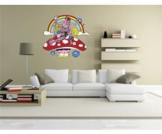 INDIGOS KAR-Wall-clm010-70 Wandtattoo fürs Kinderzimmer clm010 - Lustige kleine Monster - Totenkopf-Skull - Wandaufkleber 70 x 62 cm