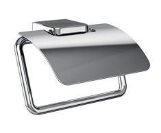 Emco Trend Toilettenpapierhalter, chrom, Klopapierhalter, mit Deckel, Rollenhalter, Papierhalter, Wandmontage - 20000100