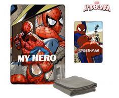 Suncity Spiderman Fleecedecke, Mehrfarbig, 100 x 150 cm