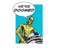 Komar Wandbild Star Wars Classic Comic Quote Droids | Kinderzimmer, Jugendzimmer, Dekoration, Kunstdruck | ohne Rahmen | WB114-30x40 | Größe: 30 x 40 cm (Breite x Höhe)