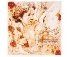 Eurographics JO2297 Joadoor, Les Anges-Le reve cele. 18 x 18 cm, Hochwertiger Kunstdruck - Erotik