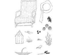 Lindsay Mason Designs Gartenstuhl, A6 quer, Stempel, Transparent