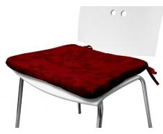 Soleil dOcre Amelia 5584 Sitzpolster aus Polyester, 40x3x40cm, Rot