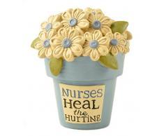 Blossom Bucket Nurses Heal Blumentopf mit Blumen