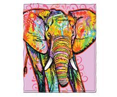 Dawhud Direct Fleecedecke / Fleecedecke von Dean Russo, sehr weich, ca. 198 x 228,6 cm 75 x 90 elefant