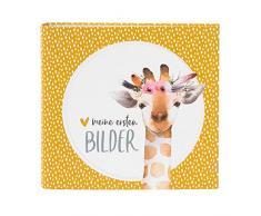 goldbuch Fotoalbum Kleines Wunder Giraffe, Serie LieblingsDINGE by, Bilderalbum mit 50 weiße Seiten, Foto Album zum Einkleben, Fotobuch mit Leinen Struktur, Papier, Gelb, ca. 27,5 x 25,5 x 4 cm