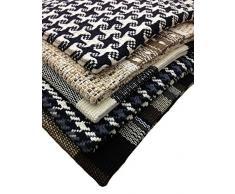 GMMH Fleckerlteppich Baumwolle Handweb Teppich Flickenteppich 70 X 70 cm (1)