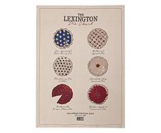 LEXINGTON Geschirrtuch, Eindruck Kuchen, Baumwolle, Beige, Einzelbett, 50Â x 70Â x 0.02Â cm