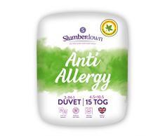 Slumberdown Anti Allergy Bettdecke, Microfaser, weiß, Kingsize