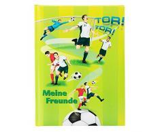 Goldbuch Freundebuch, Fußballer, DIN A5, 88 illustrierte Seiten, Kunstdruck, Grün, 43578