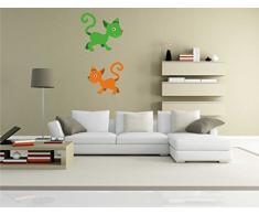 Indigos KAR-Wall-clm040-58 Wandtattoo fürs Kinderzimmer clm040 - Lustige kleine Monster - Niedlichen Hund - Wandaufkleber 58 x 112 cm