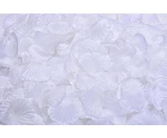 Lothringen Hochzeit Tisch Dekoration Seide Rosenblätter Blumen Konfetti (1000, Pure weiß)