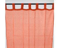 Thedecofactory Premium Vorhang mit Schlaufen (110Â x 250Â cm) United United orange Stil: