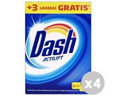 DASH Set 4 Waschmittel Waschmaschine Staub 22+ 3Wäschen klassisch