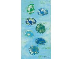 Eurographics ANF2024 Anna Flores, Flying Marguerites On Turquois, Hochwertiger Kunstdruck - Blumen