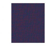 Pt, (Present Time) Fleece Decke Tuned Mesh dunkelblau, Burgunderrot, Vlies, L. 180 cm, W. 150 cm