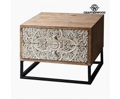 BigBuy Home Nachttisch, 40 x 53 x 65 cm, MDF, mehrfarbig, Einheitsgröße