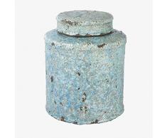 Better & Best Vorratsdose, klein, Hellblau, unregelmäßig, Maße 19 x 19 x 23 cm, Material: Terrakotta, Einheitsgröße