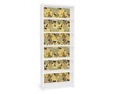 Apalis 90815 Möbelfolie für Ikea Billy Regal - Vintage Flowers, größe 2 mal, 94 x 76 cm