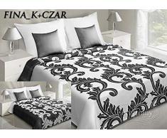 Eurofirany Tagesdecke, Polyester-Baumwolle, Cream/Black, 220 x 240 x 1 cm
