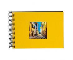 Goldbuch Spiralalbum mit Bildausschnitt, Bella Vista, 24x17 cm, 40 schwarze Seiten, Leinen, Gelb, 20 671