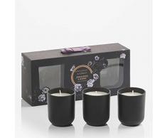 RITZENHOFF Aroma Naturals Noir 3er Set Kerzen, Sandalwood & Jasmine, in Geschenkverpackung
