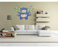 Indigos KAR-Wall-clm025-58 Wandtattoo fürs Kinderzimmer clm025 - Lustige kleine Monster - Engel - Wandaufkleber 58 x 46 cm