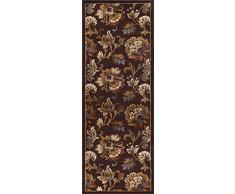 Universal Teppiche Floral Transitional Läufer Accent Bereich Teppich, braun, 221 x 79 cm